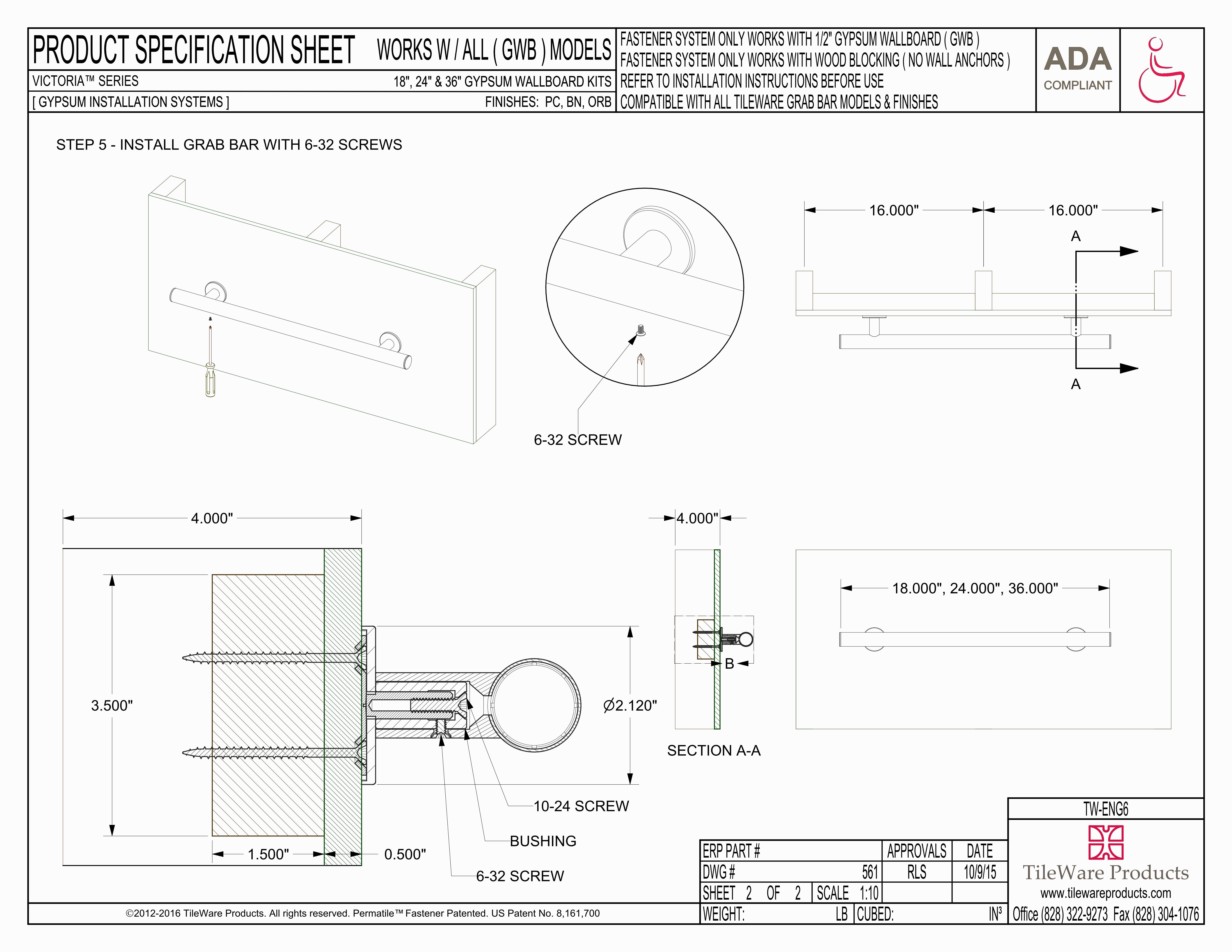 Gypsum Wallboard Kit - 18\